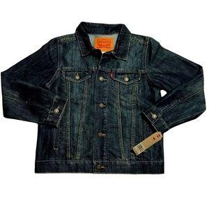 Levis Little & Big Boys Blue Denim Trucker Jacket Stylish size S,M,L,XL (8-18)